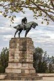 Скульптура, конноспортивная статуя, Sant Jordi, Джордж Josep Llimona i стоковая фотография