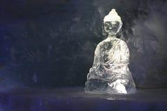 скульптура льда Будды Стоковое фото RF