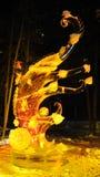 скульптура льда осени Стоковое фото RF