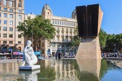 Скульптура нагой женщины купая названное Ла Deessa Стоковая Фотография RF