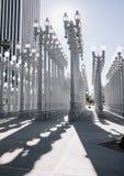 Скульптура на LACMA, Лос-Анджелес ` ` городская светлая Стоковое фото RF