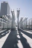 Скульптура на LACMA, Лос-Анджелес ` ` городская светлая Стоковое Фото