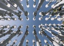 Скульптура на LACMA, Лос-Анджелес ` ` городская светлая Стоковое Изображение