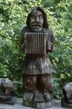 Скульптура от искусства заполированности древесины Стоковое фото RF