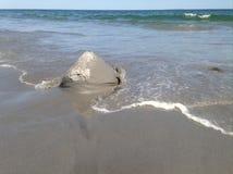 Скульптура песка моя прочь Стоковые Фотографии RF