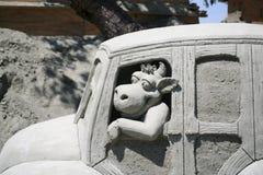 скульптура песка ярмарки графства померанцовая стоковое изображение rf