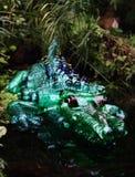 скульптура пластмассы любимчика крокодила искусства стоковое изображение rf