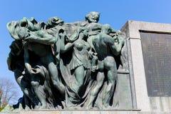 Скульптура показывает человеческие диаграммы Стоковые Фотографии RF