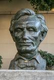 Скульптура президента Соединенных Штатовов Авраама Линкольна Стоковое Изображение RF