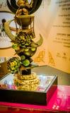 Скульптура различных геометрических форм сделанных из шоколада Стоковые Фото