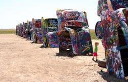скульптура ранчо cadillac искусства общественная Стоковое Изображение