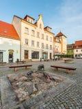 Скульптура 3 свиней в Wilsdruff, Германии Стоковое фото RF