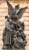 Скульптура, символизируя победу Стоковая Фотография RF