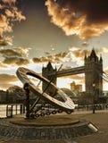 Скульптура солнечных часов часов в Лондоне Стоковое Фото