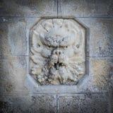 Скульптура стороны стены Стоковые Изображения RF