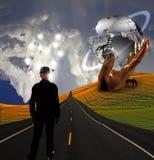скульптура человека ландшафта идей иллюстрация вектора