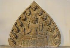 Скульптура чем Vishnu в музее Cham Da Nang стоковое изображение