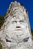 скульптура danube decebal Стоковые Фотографии RF