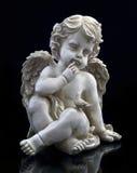 скульптура dove ангела стоковое изображение