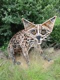 Скульптура Fox стоковое фото rf