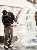 скульптура london льда празднества Стоковое фото RF