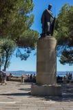 Скульптура Sao jorge замка стоковые фото