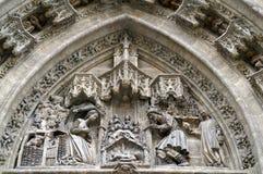 Скульптурная сцена от Евангелия Стоковое Фото