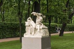 Скульптурный купидон и психики группы стоковое фото rf