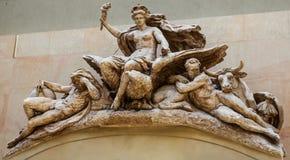 Скульптурный состав в ` Orsay музея d стоковое изображение rf