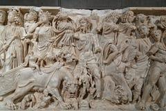 Скульптуры барельеф найденные в Лионе стоковое изображение