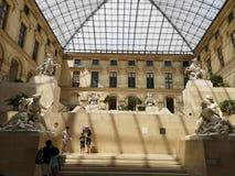Скульптуры в Лувре в Париже, Франции Стоковые Фото
