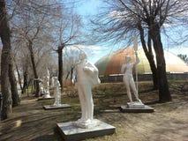 Скульптуры в парке стоковое изображение rf