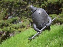 Скульптуры в саде площади здания федерального суда стоковое фото rf