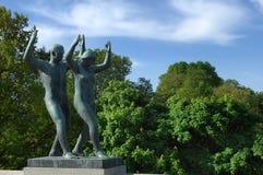 Скульптуры в Vigeland паркуют, Осло Стоковое Фото