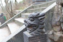 Скульптуры головы ` s дракона Стоковые Изображения