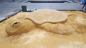 Скульптуры песка на месте Мартин, Сиднее, NSW, Австралии стоковое фото