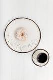 Скупой красочный завтрак с донутом Стоковые Изображения