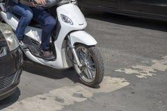 Скутер подробно стоковое фото rf