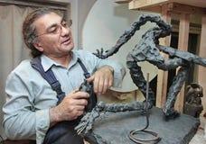 Скульптор стоковое изображение rf