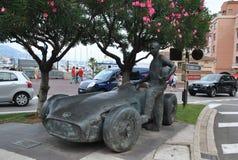 Скульптура автомобиля и водителя к ` ` Formula-1 гонки Стоковое Изображение