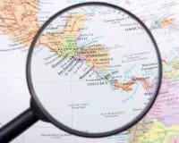 скульптура америки центральная составляет карту NASA Стоковые Изображения