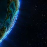 скульптура америки центральная составляет карту NASA Стоковая Фотография RF