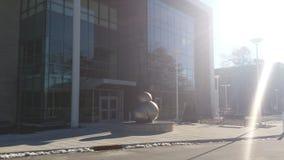 Скульптура атома воды Стоковое Фото