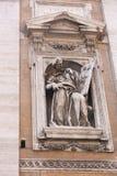 Скульптура базилики St Peter, Ватикана Стоковое фото RF