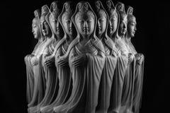 Скульптура бодхисаттвы/Guan Yin/Guanshiyin Avalokitasvara Стоковые Изображения RF