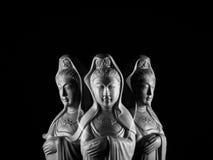 Скульптура бодхисаттвы/Guan Yin/Guanshiyin Avalokitasvara Стоковые Фотографии RF