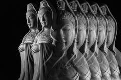 Скульптура бодхисаттвы/Guan Yin/Guanshiyin Avalokitasvara Стоковая Фотография RF