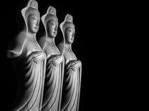 Скульптура бодхисаттвы/Guan Yin/Guanshiyin Avalokitasvara Стоковое Изображение RF