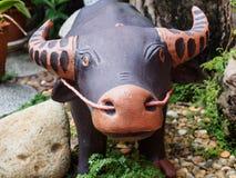 Скульптура буйвола Стоковые Изображения