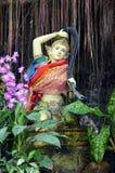 Скульптура буддийского божества стоковое изображение rf